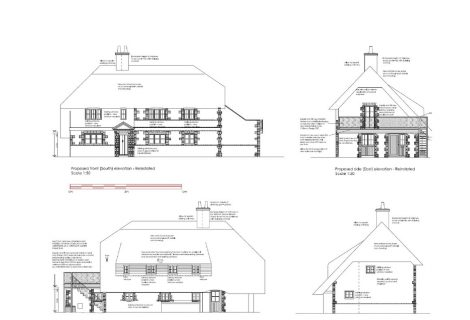Architectural Services  – Grade II listed thatched cottage – Bognor Regis, Hampshire